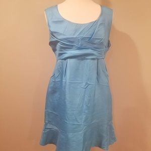 Silky Blue Slip Dress